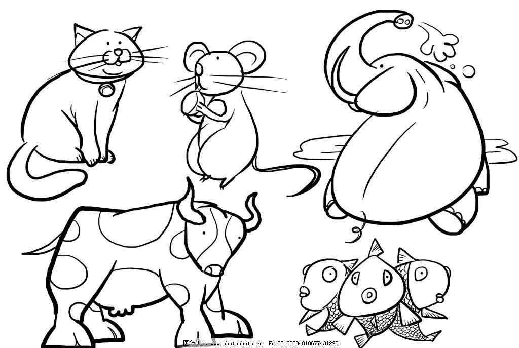 幼儿简笔画 动物图片