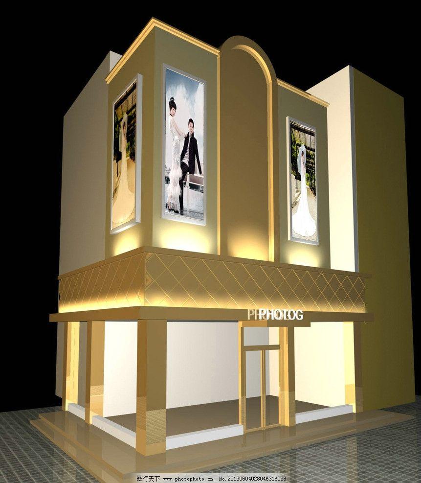 门头装修图 门头装修 立体 灯光 装修效果图 3d效果        建筑设计