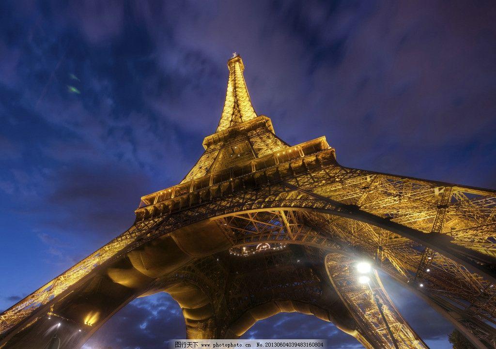 摄影图库 建筑园林 建筑摄影  埃菲尔铁塔 法国 巴黎 仰视 夜景 高清