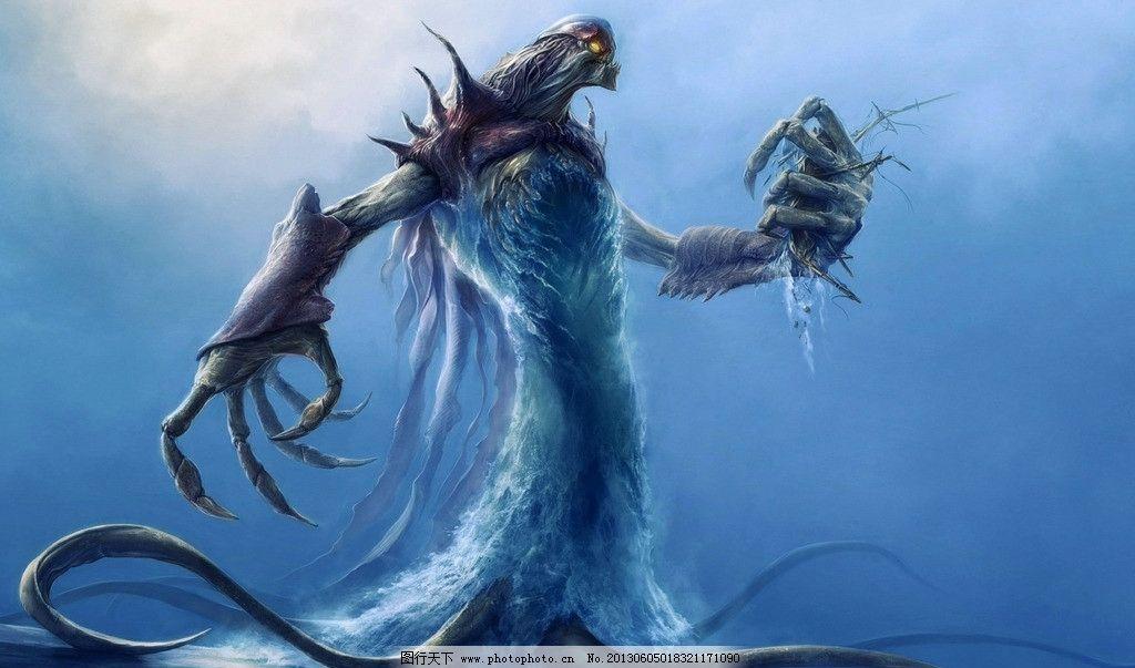 动漫人物 怪兽 野兽 魔兽 数字绘画 艺术 美女 板绘美女 游戏美女