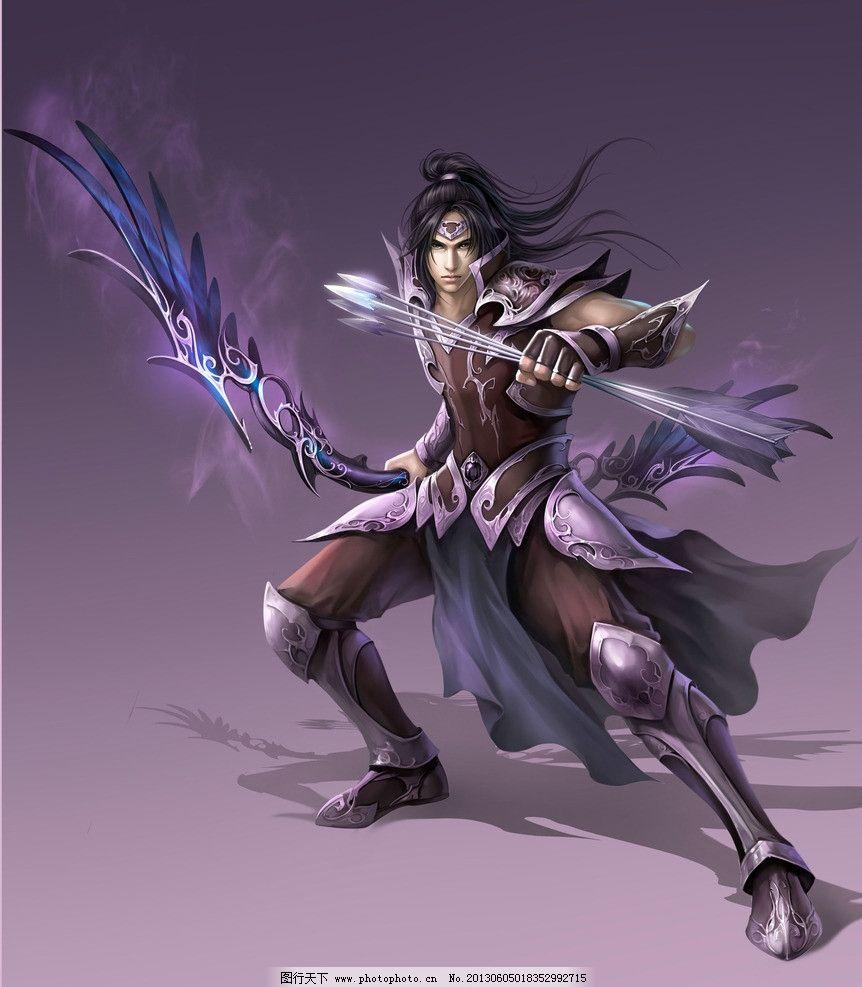 动漫人物 真王 弓箭 战士 武士 玄幻 武侠 数字绘画 艺术 绘画 板绘