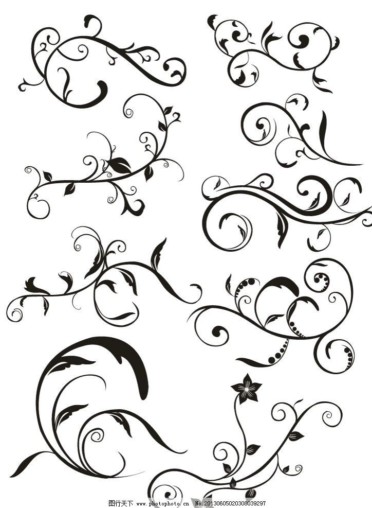花纹模板下载 欧式花纹