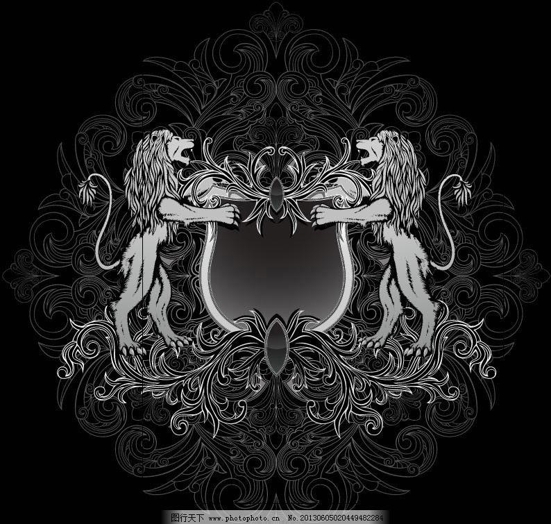 欧式花纹 狮子图片