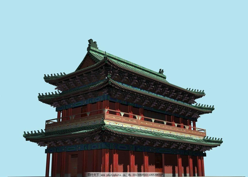 立体古代建筑 3d模型 古建 渲染效果图 故宫 3d古建 3d作品 3d设计