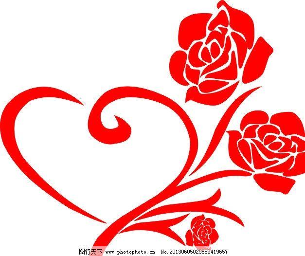 玫瑰花 背景墙 红色 图案 矢量 硅藻泥背景墙 广告设计 cdr