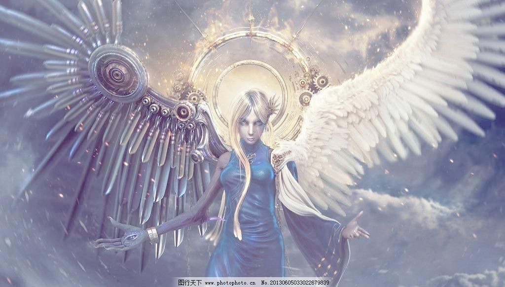 绘画 美女 动漫人物设计素材 动漫人物模板下载 动漫人物 天使 翅膀