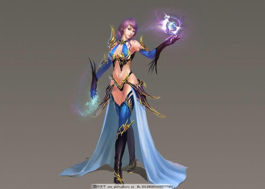 动漫人物 玄幻 美女战士 法师 数字绘画 艺术 板绘美女 游戏美女