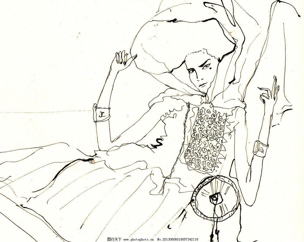 人物设计 速写 眉毛 设计 美女 帽子 手 衣服图片