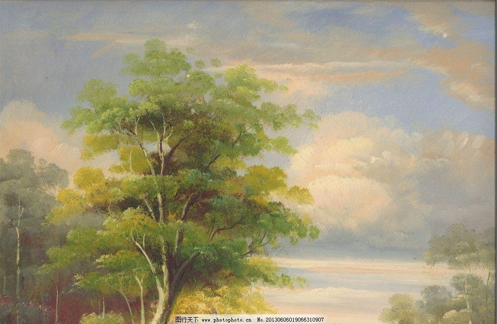 风景油画 风景画 装饰画
