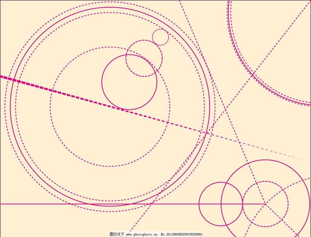 圆圈线条背景 圆圈 虚线圈 虚线 黄色 背景 直线 小圆 几何 条纹线条
