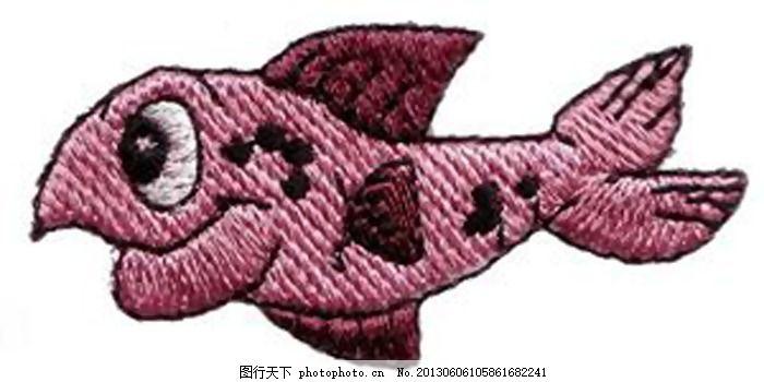 绣花 动物 小丑鱼 色彩 红色 免费素材