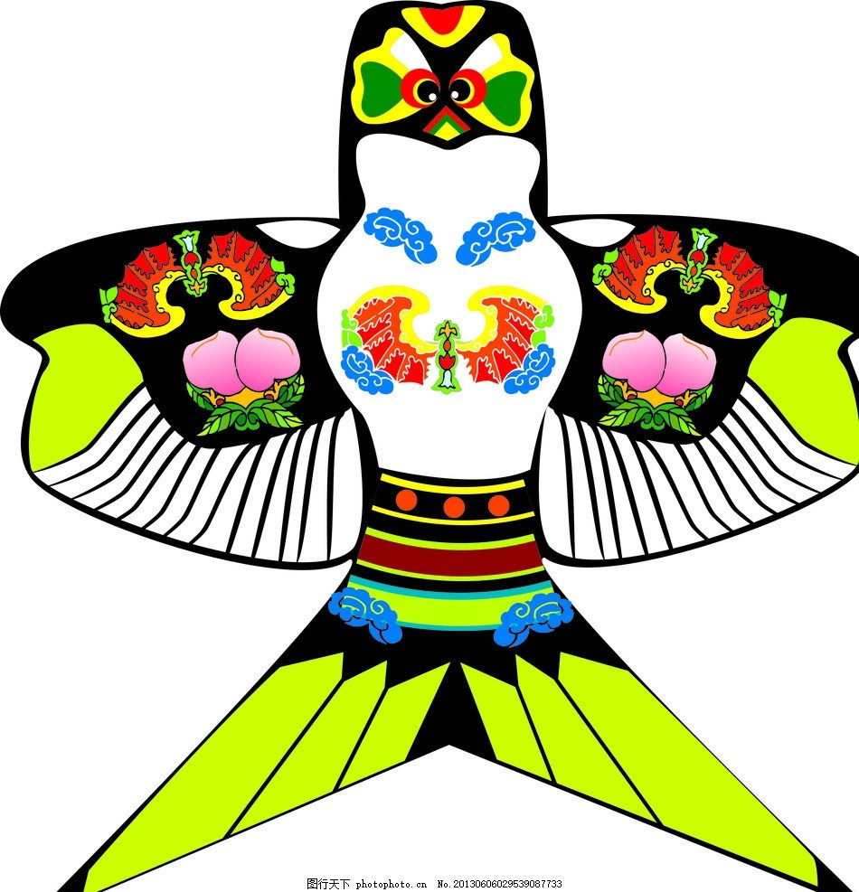 风筝 放风筝 风筝节 燕子 传统文化 矢量 设计元素 广告设计 cdr