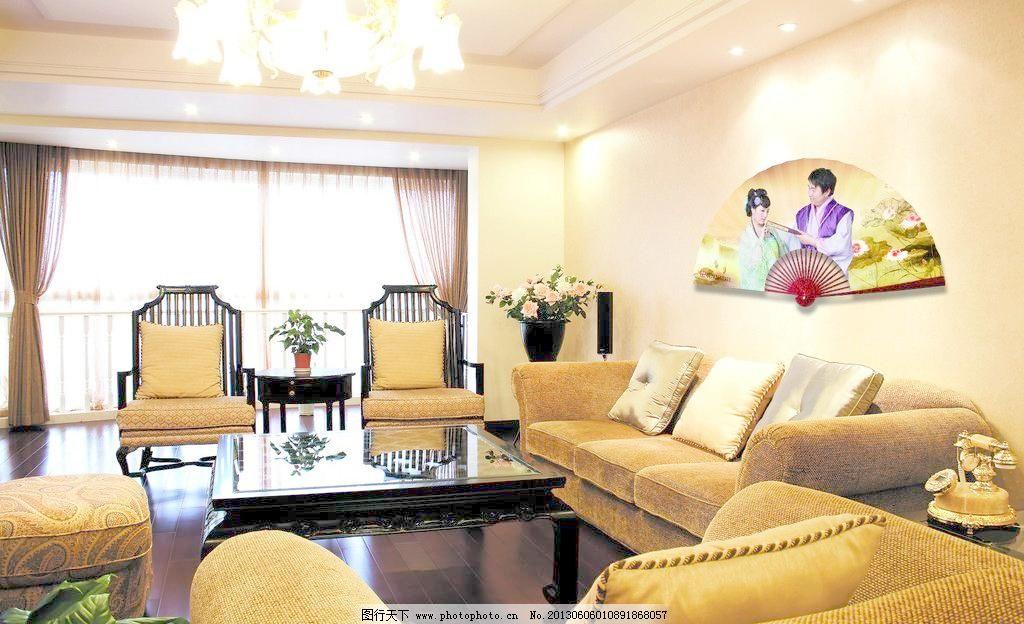 欧式房屋设计 布艺沙发 茶几 窗帘 高清 花卉 家居 家具 欧式房屋设计