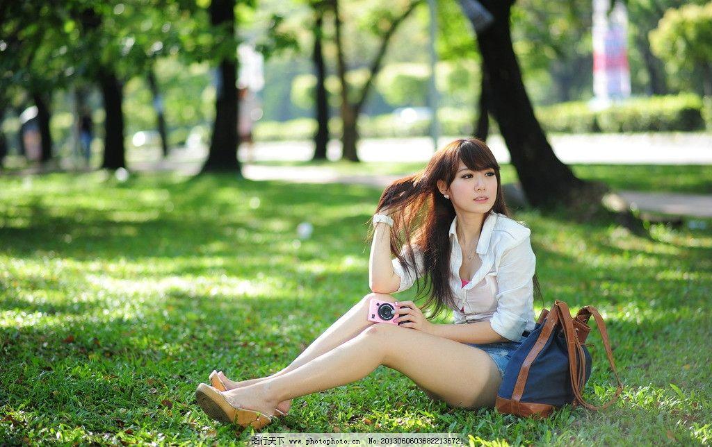 气质美女 青春靓丽 青春活力 可爱美女 天生丽质 阳光美女 长发美女