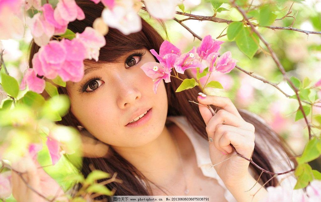 桃花美女 气质美女 青春靓丽 青春活力 可爱美女 天生丽质 阳光美女