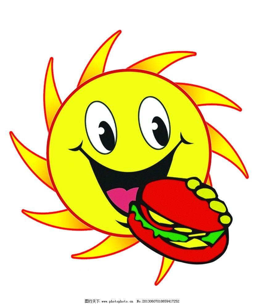 笑脸 眼 嘴 发型 汉堡 其他 动漫动画 设计 72dpi jpg