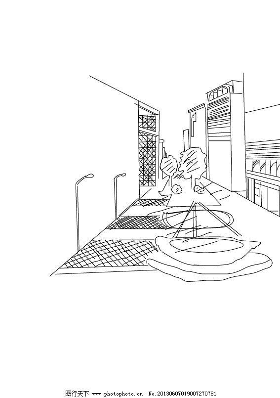 建筑物 手绘 黑白手绘 线条 建筑绘画 美术绘画 文化艺术 矢量 ai