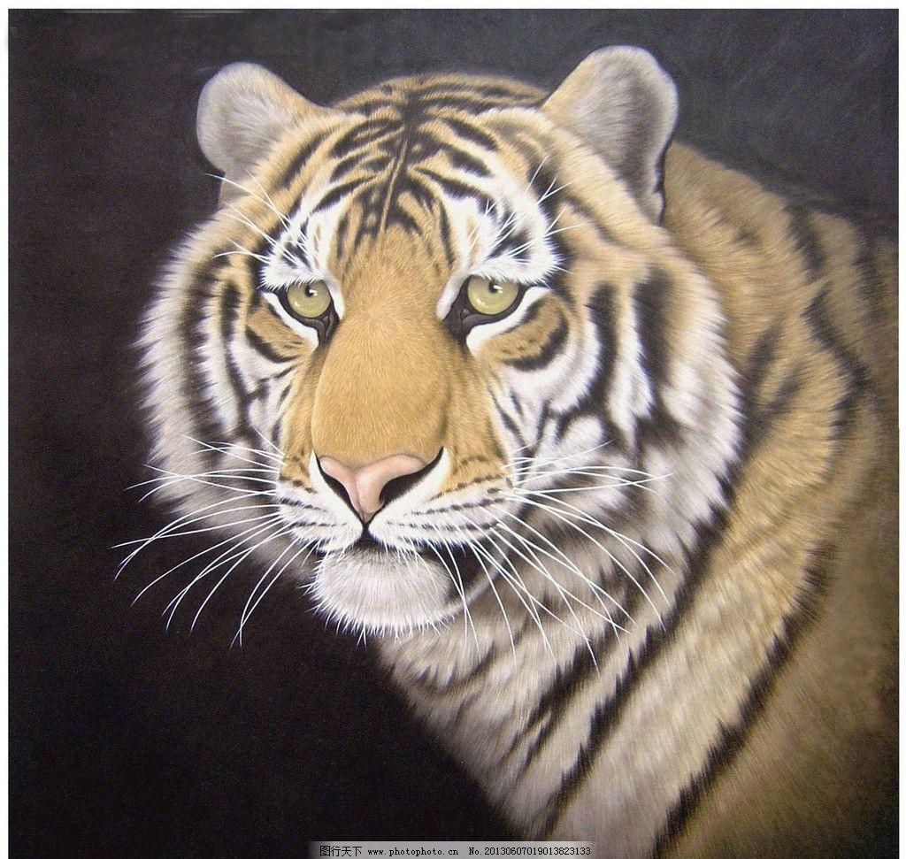 老虎 工笔虎 工笔画 虎 国画 绘画书法 文化艺术 设计 72dpi jpg