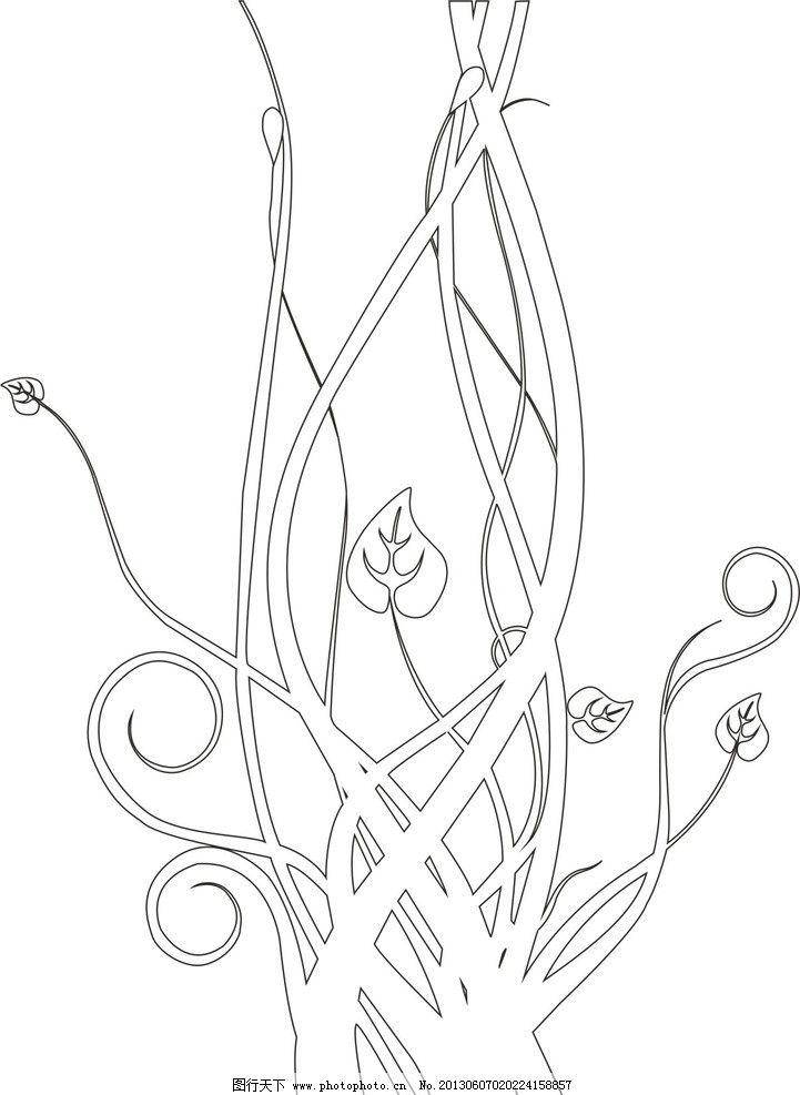 艺术玻璃图案 抽象 花纹 卷纹 连续 穿插 艺术背景 药物砂 蚀刻