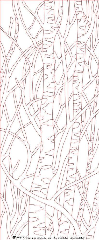 大树干简笔画图片
