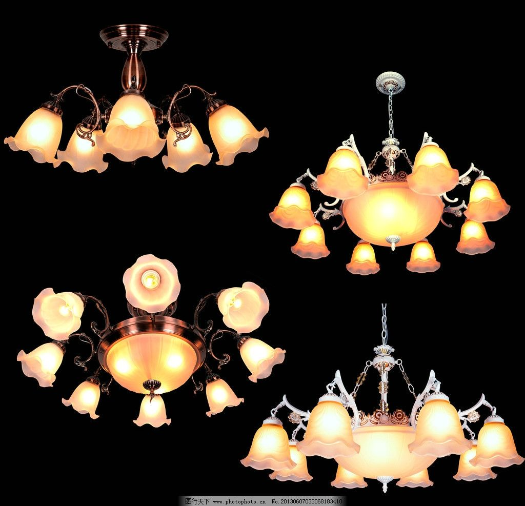 欧式灯 复古 现代 奢华 低调 田园 铜灯 psd分层素材 源文件 300dpi图片