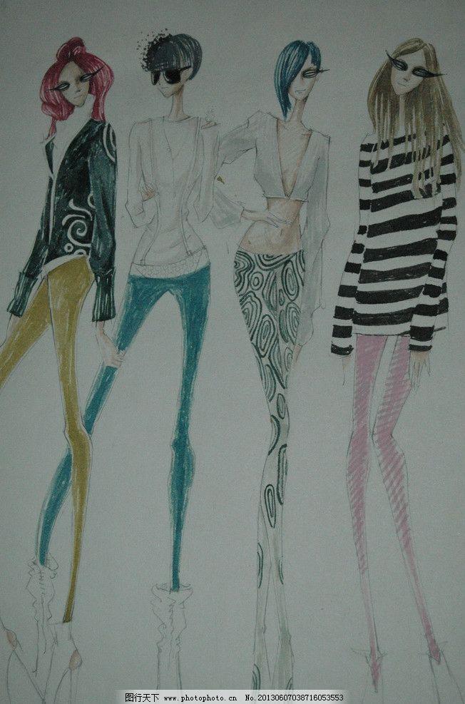 pop海报 手绘服装 手绘模特 手绘字体 pop字体 插画 插图 手绘人物