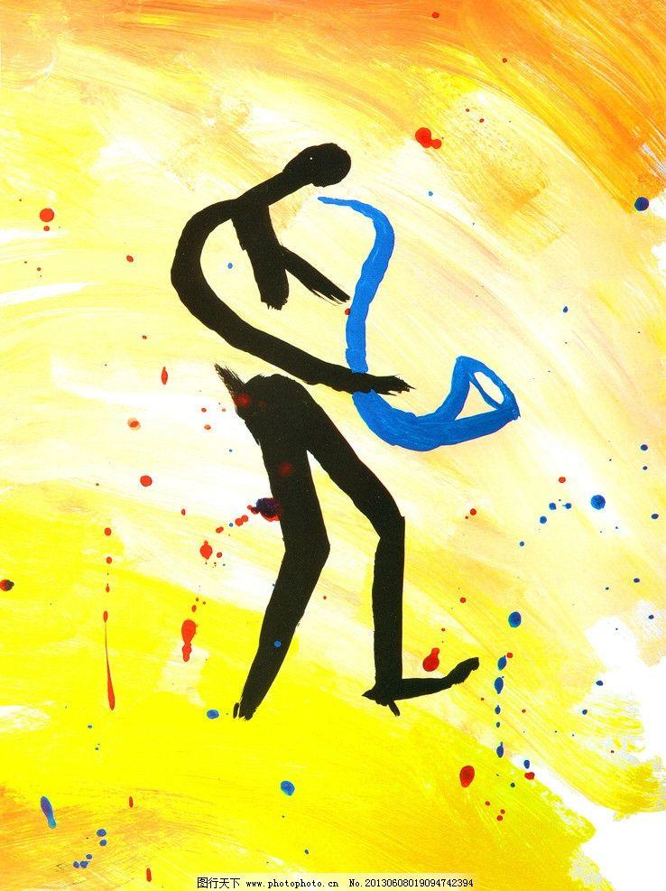抽象人物 人物 抽象 艺术 高清 手绘 装饰 萨克斯 绘画书法 文化艺术