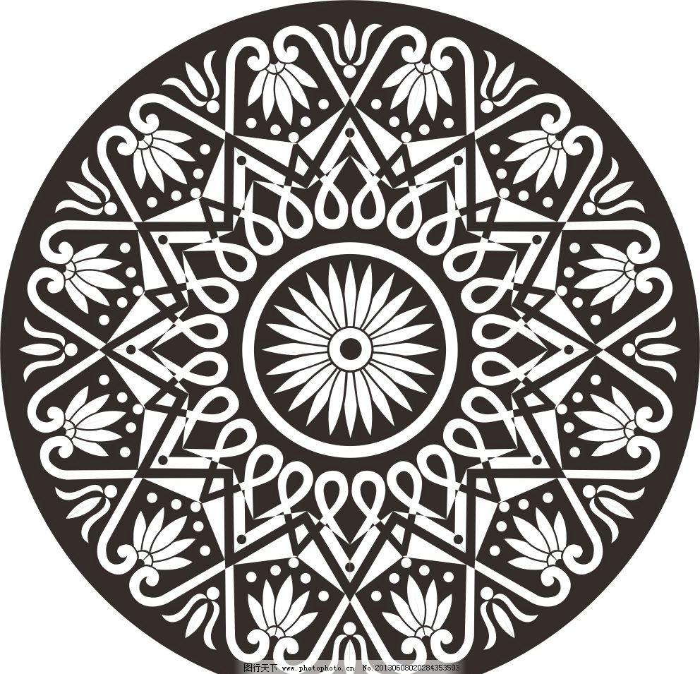 欧式圆形图案图片