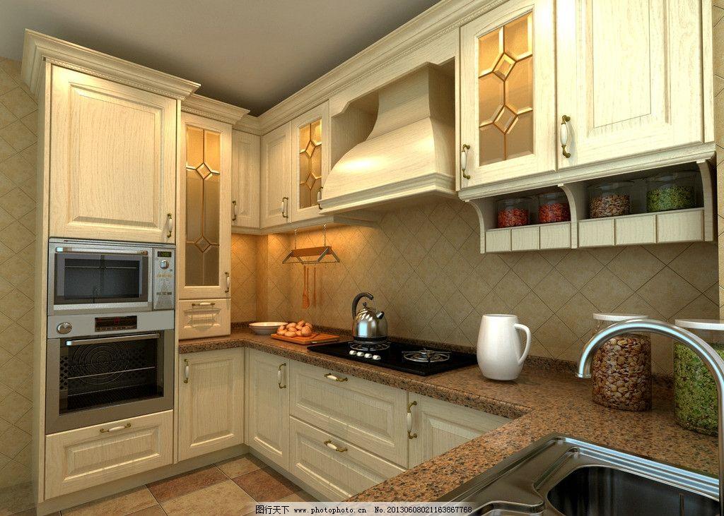 简欧 白色 橱柜 欧式 厨具 3d作品 3d设计 设计 72dpi jpg
