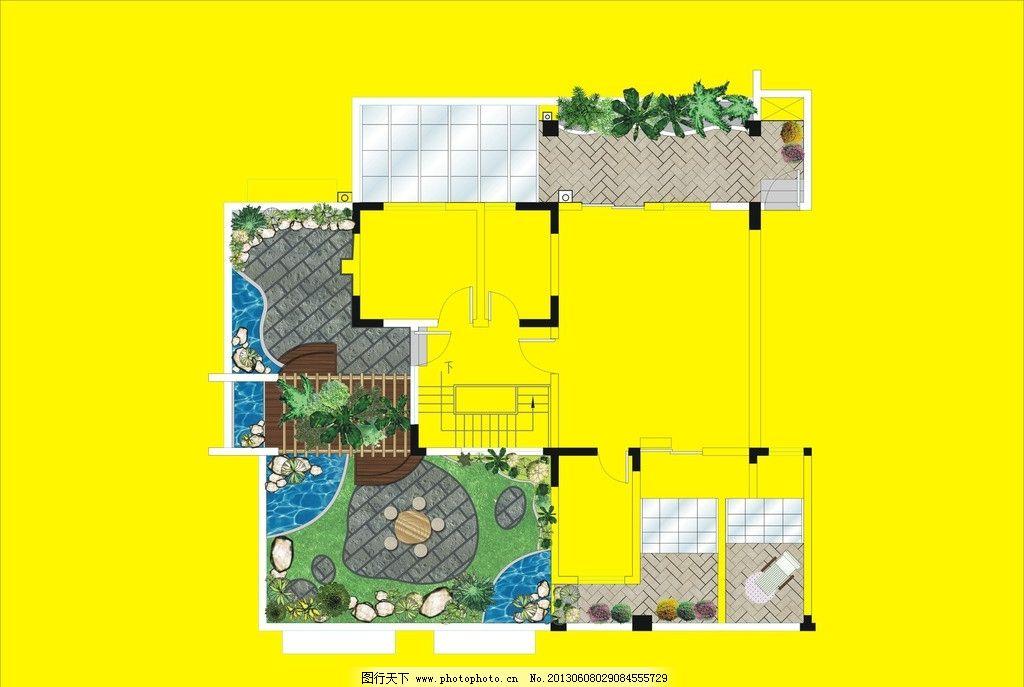 室内效果图 室内图 装潢图 设计 房子 水池 树 窗户 室内装潢设计