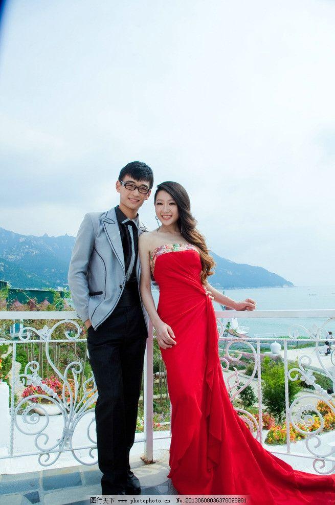 结婚照 婚纱照 婚纱 人物照 写真 海边风景 人物图库 浪漫 夫妻照