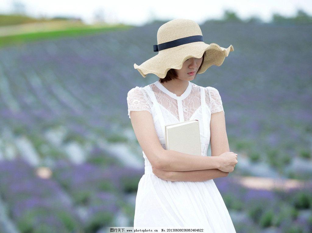 戴帽子的美女 气质美女
