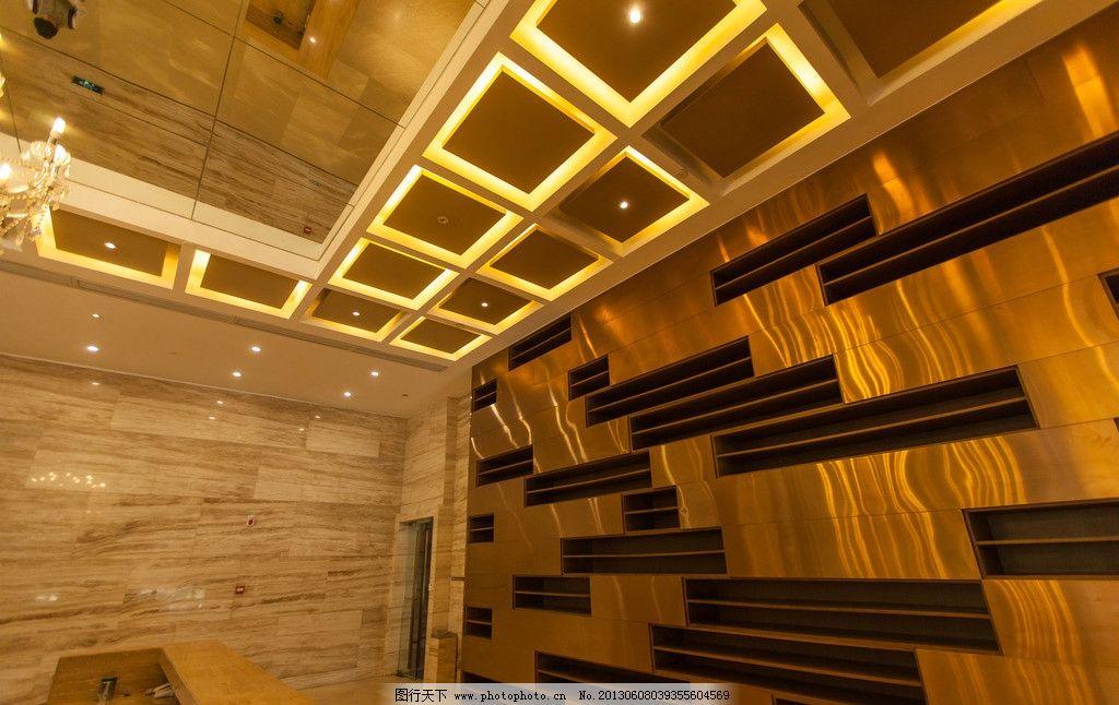 会所摄影 会所 休息区 金碧辉煌 灯光 金色 墙面 奢华 高端 高档 室内