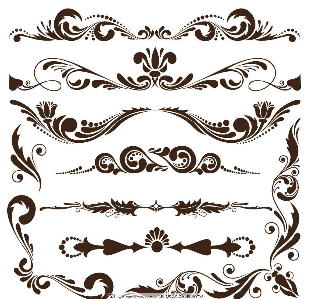 欧式花纹 欧式古典花纹 简约 欧式花纹花边 花卉 皇室 植物 波浪花纹