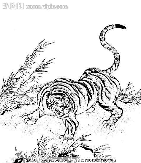 画站的老虎的步骤