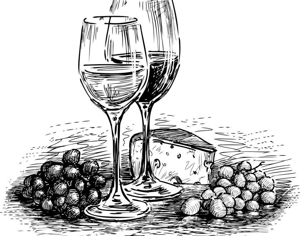 红酒瓶步骤素描