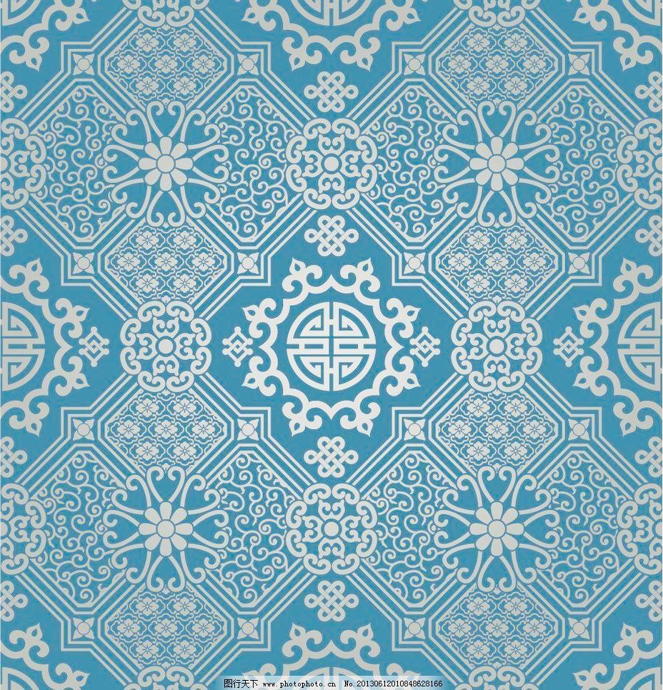 波浪花纹 潮流 传统 底纹背景 底纹边框 对称 复古 欧式花纹矢量素材