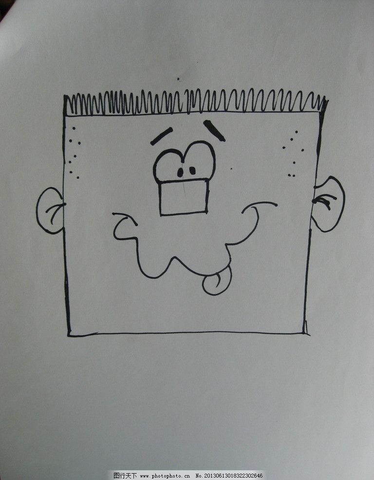 人物简笔画 方正 头部 表情 线条 简略 动漫动画