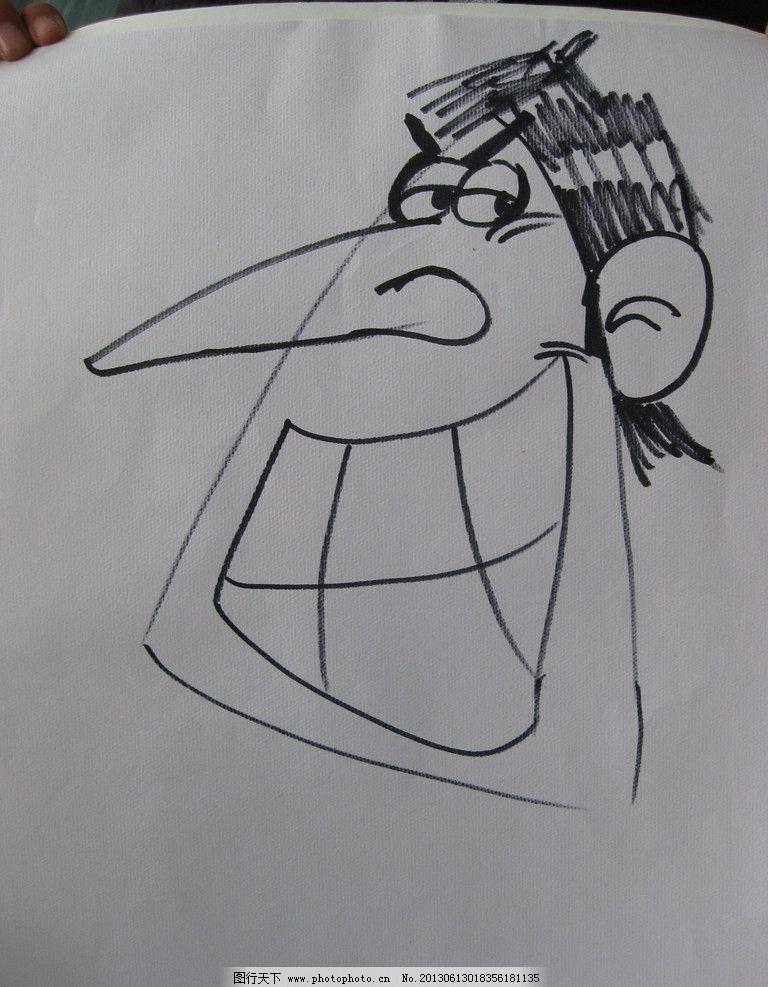 人物简笔画 长鼻摩卡 线条 简单 快速 形象 动漫人物 动漫动画 设计 1
