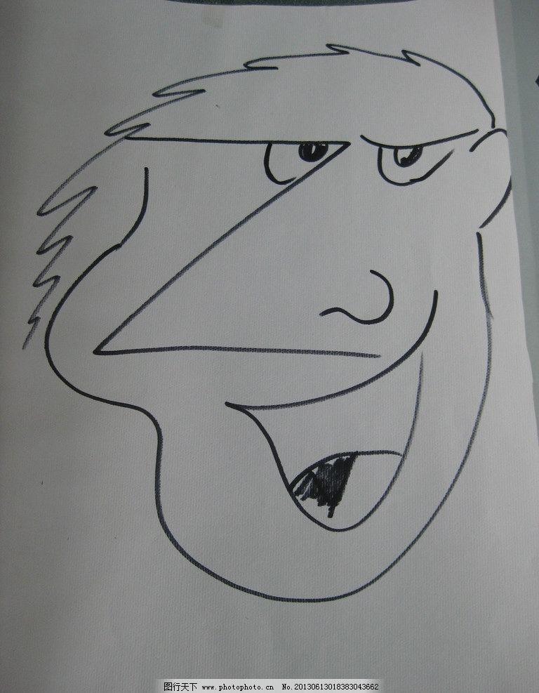人物简笔画 头部 表情 形象 夸张 动漫动画