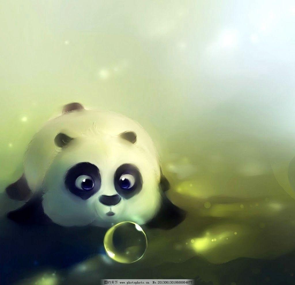 熊猫壁纸 熊猫 气泡 动漫 动物 卡通 其他 动漫动画 设计 72dpi jpg