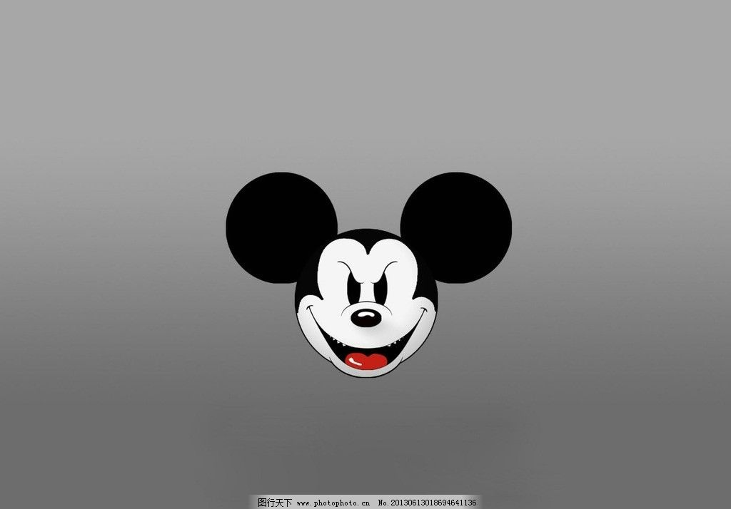 邪恶米老鼠 米老鼠头像 邪恶 迪士尼 阴险的脸 尖牙 壁纸 动漫素材
