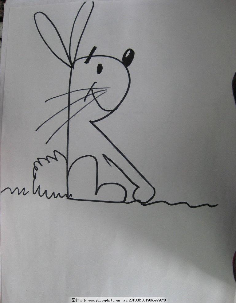 简笔画兔子 兔子 卡通 形象 简略 动物 动漫人物 动漫动画 设计 180