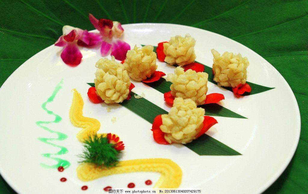 美食 荷香酥 荷花 荷叶 荷香 美味 酥脆 果酱 花瓣 摆盘 传统美食