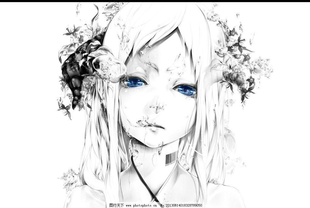 高清 cg 插画 钢琴 动漫 漫画 绘本 手绘 电脑绘画 美女 动漫人物