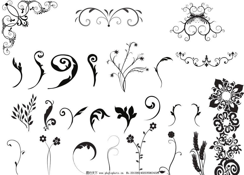 华丽 纹样 纹理 古典花纹 古典花边 古典底纹 欧式底纹 藤蔓 欧式花边