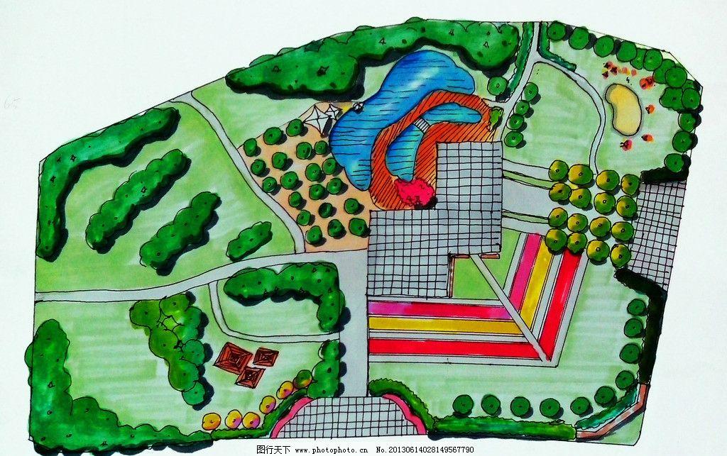 园林景观设计平面图 公园设计 园林景观设计 场地设计 游园设计 城市