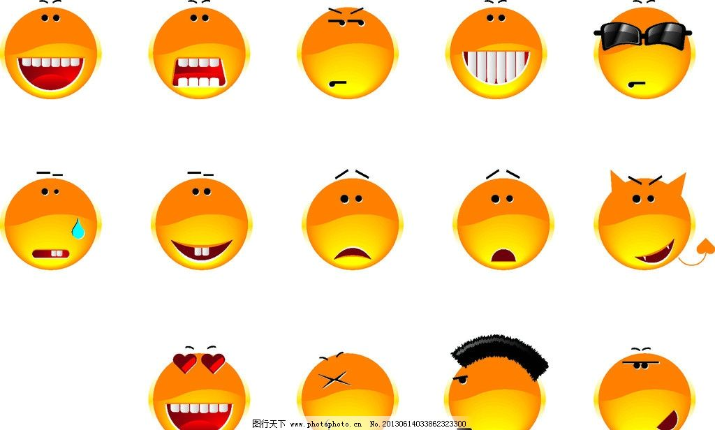 可爱表情 卡通 表情 可爱 qq 背景 矢量素材 其他矢量 矢量 cdr