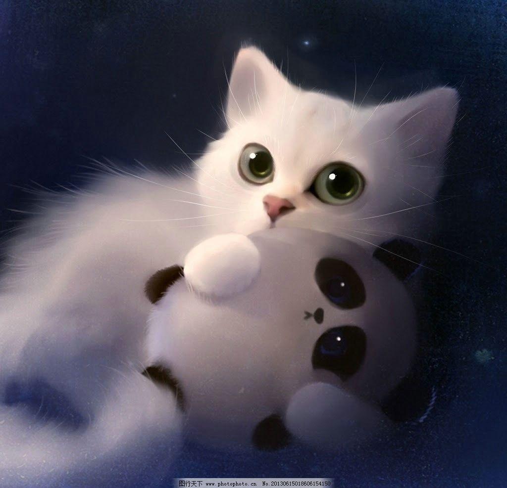 动物卡通小猫咪的房子图片