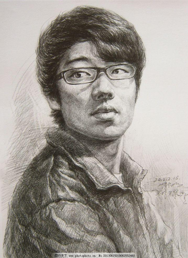 素描头像 写生头像 铅笔画 美术作品 高考教材 高清图片 绘画书法